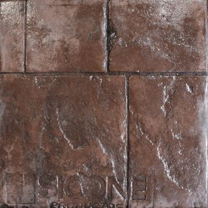 Pisos de concreto Color Endurecedor-Tabaco Desmoldante-Café Oscuro Molde-Granito Antiguo