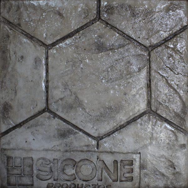 Pisos de concreto Color Endurecedor-Avena Desmoldante-Negro Molde-Adoquin exagonal