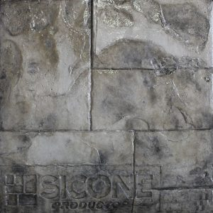 Pisos de concreto Color Endurecedor - Beige Desmoldante - Negro-Gris Molde Ashlar Romano