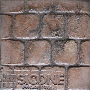 Pisos de concreto Color Endurecedor - Café Claro Desmoldante - Café Oscuro Molde Adoquin Edimburgo