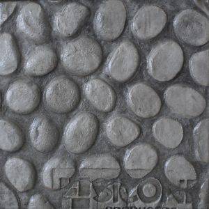Pisos de concreto Color Endurecedor-Gris Plata Desmoldante-Negro Molde-Piedra de Rio