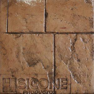 Pisos de concreto Color Endurecedor - Mandarina Desmoldante - Café Oscuro Molde - Ashlar Granito Antiguo