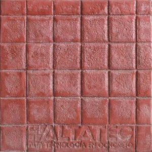 Pisos de concreto Color Endurecedor - Rojo Desmoldante Neutro Molde - Adoquin 10 x 10