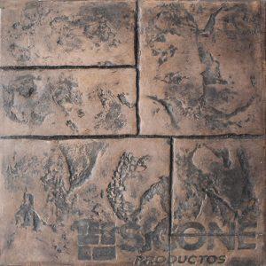 Pisos de concreto Color Endurecedor - Tabaco Desmoldante - Negro Molde - Ashlar Australiano
