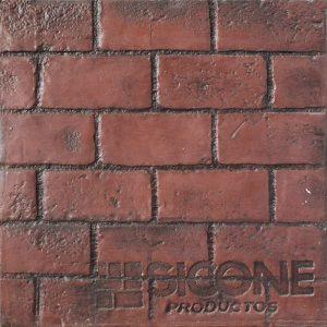 Pisos de concreto Color Endurecedor - Terracota Desmoldante - Negro Molde - Ladrillo de Soga