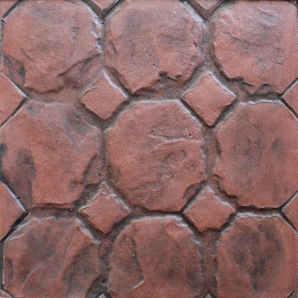 Pisos-de-concreto-Color-Endurecedor-Terracota-Desmoldante-Negro-Molde-Panal