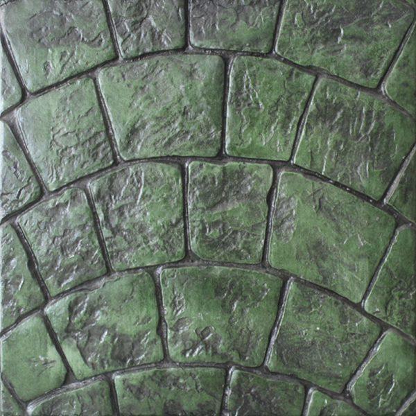 Pisos-de-concreto-Color-Endurecedor-Verde-Desmoldante-Negro-Molde-Abanico-Europeo