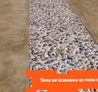Tipos de acabados en pisos de concreto
