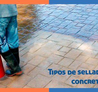 Tipos de sellador para concreto